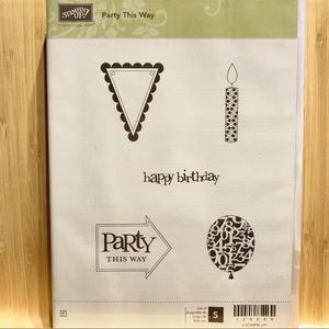 "🍒 Stampin' Up! 🍒 ""Party this Way"" Stamp set."
